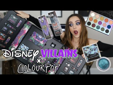 COLOURPOP DISNEY VILLAINS COLLECTION | LIP SWATCHES + REVIEW