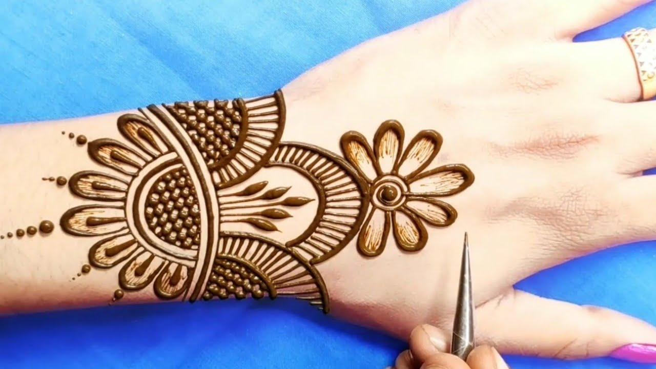 karva chauth mehandi design back side