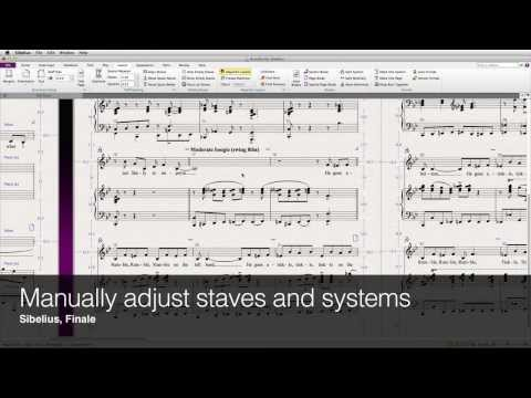Manually adjust staves and systems in Sibelius and Finale