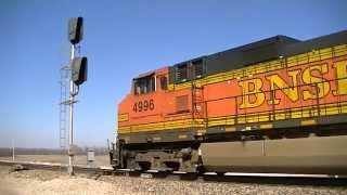 BNSF 4151 leads a s/b oil train on the Fort Scott Sub.