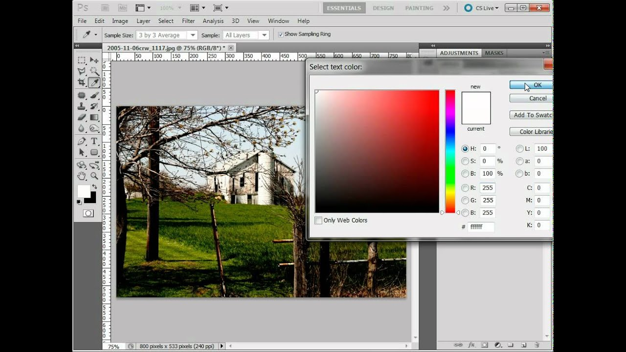 Photoshop Add Copyright Notice To Your Photos Youtube