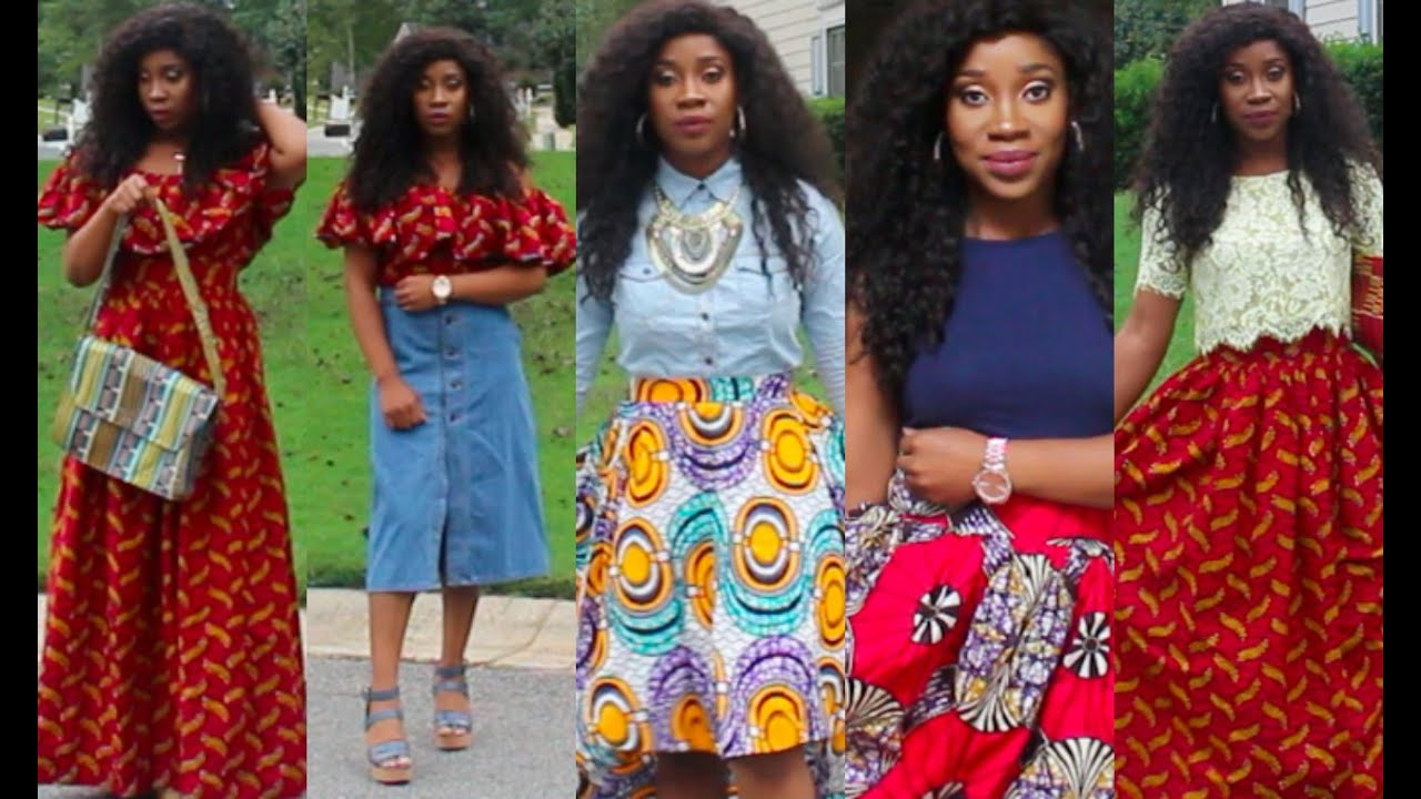 utube hair styles ankara skirts how to style 8991