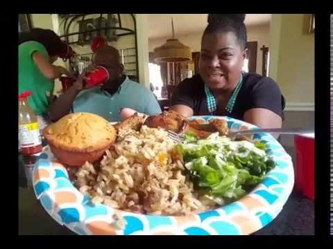 Mukbang/Sunday Dinner: Lemon Chicken & Dirty Rice