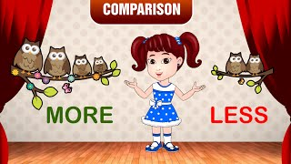 More and Less   Comparison for Kids   Learn Pre-School Concepts with Siya   Part 5