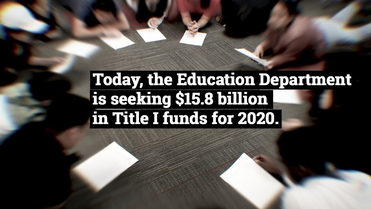 Feds Boost Spending On Special Ed >> 2020 Democrats Want To Dramatically Increase Title I Funding