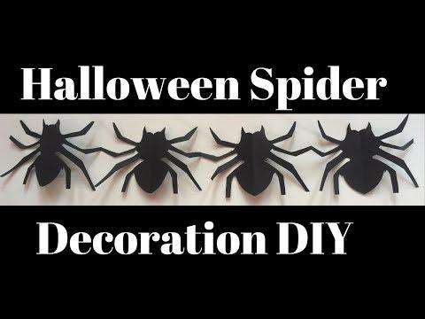 Spider Decoration For Halloween | DIY Paper Spider | Halloween Crafts With Paper