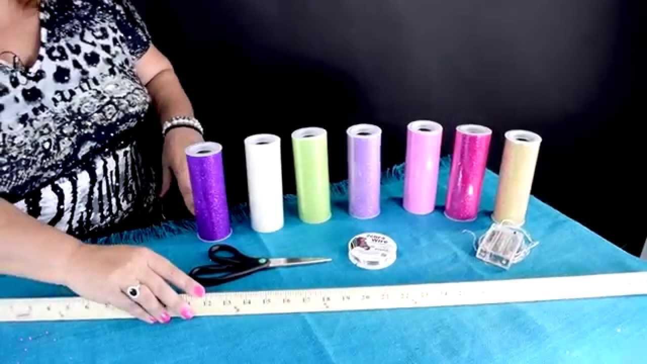 How To Make A DIY Rainbow Sparkle Tulle Skirt With Fairy Lights!   YouTube