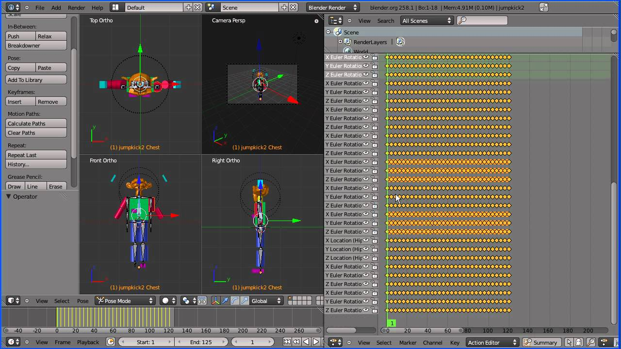 Blender 2 5 Importing Motion Capture Data ( bvh) Files and Setting Up a  Simple Rig Part 3