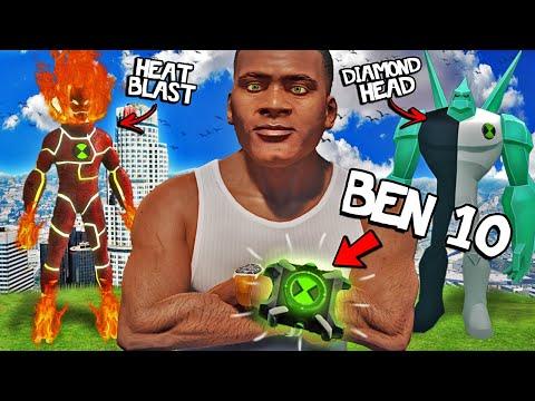 FRANKLIN Becomes BEN 10 In GTA 5 (Mods)