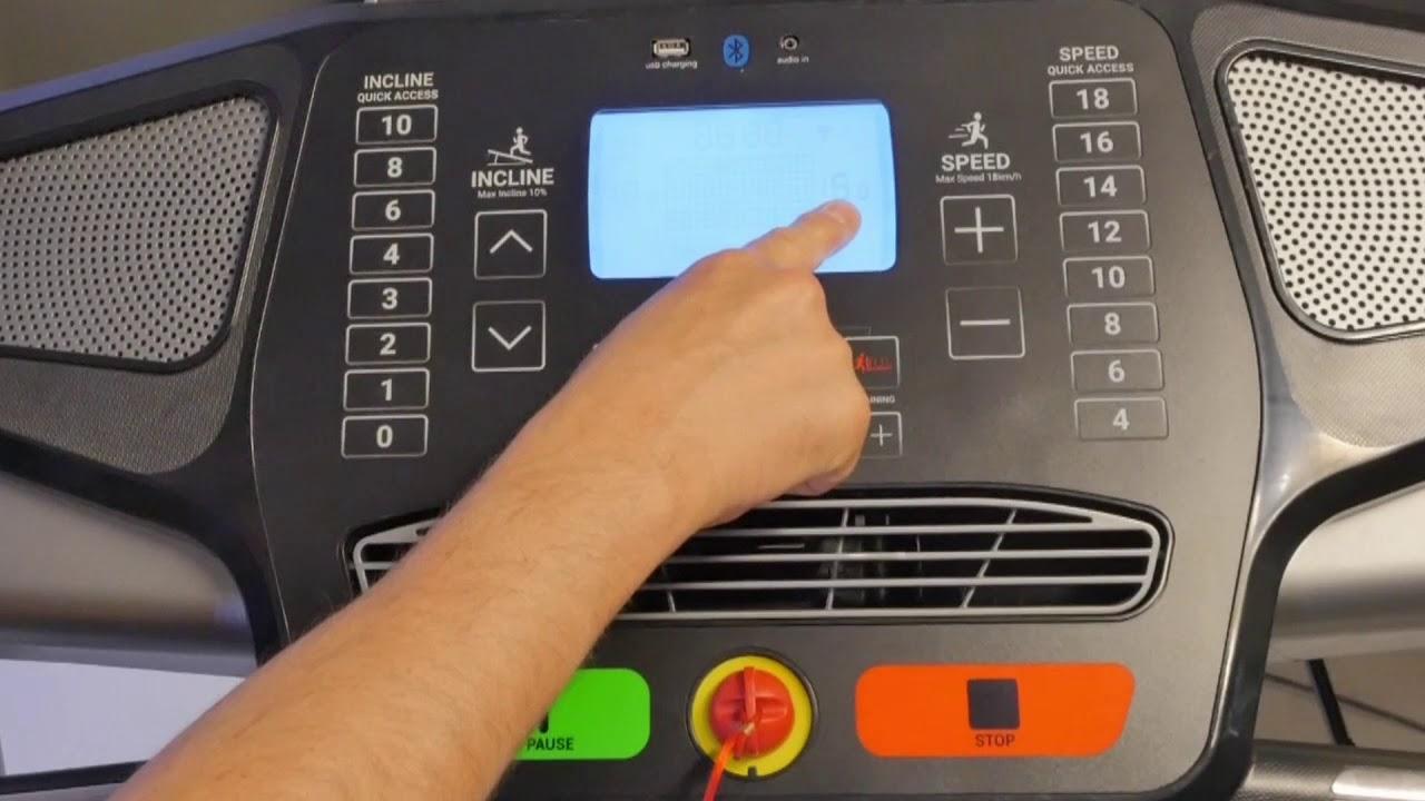 comment calibrer la carte de controle sur un tapis de course t900a b c
