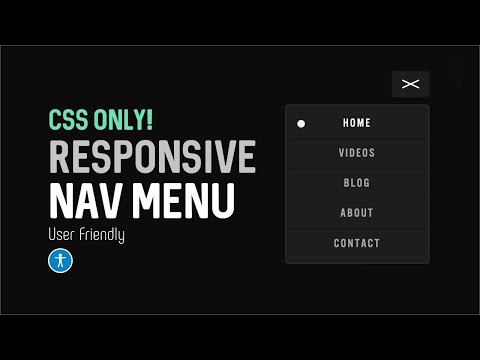 Responsive Site Nav Menu CSS Only! - Hamburger and Full View Mobile Nav Menu