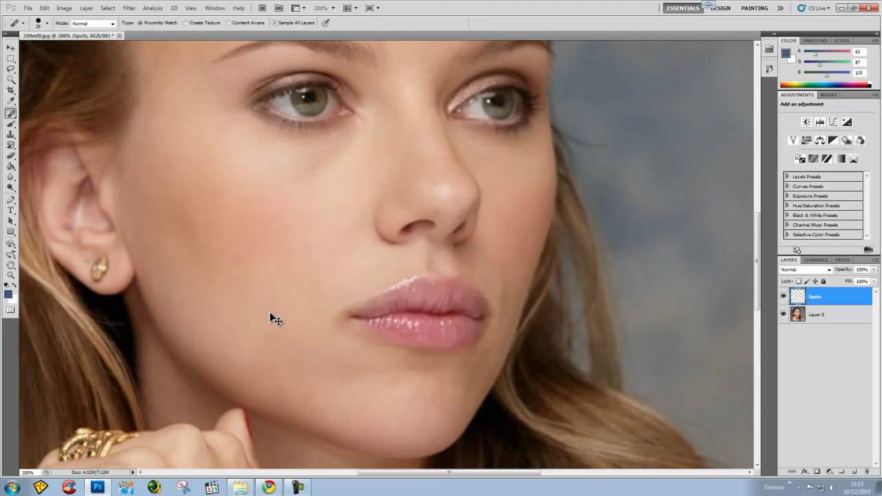 Photoshop cs6 removing spots in 60 seconds tutorial youtube