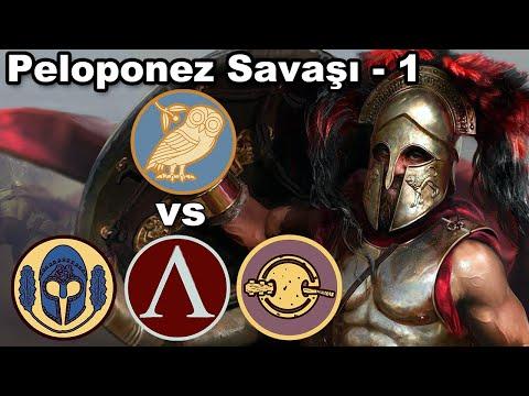 Peloponez Savaşı Başladı - Atina 1 - Total War ROME 2 Wrath of Sparta Oynuyoruz