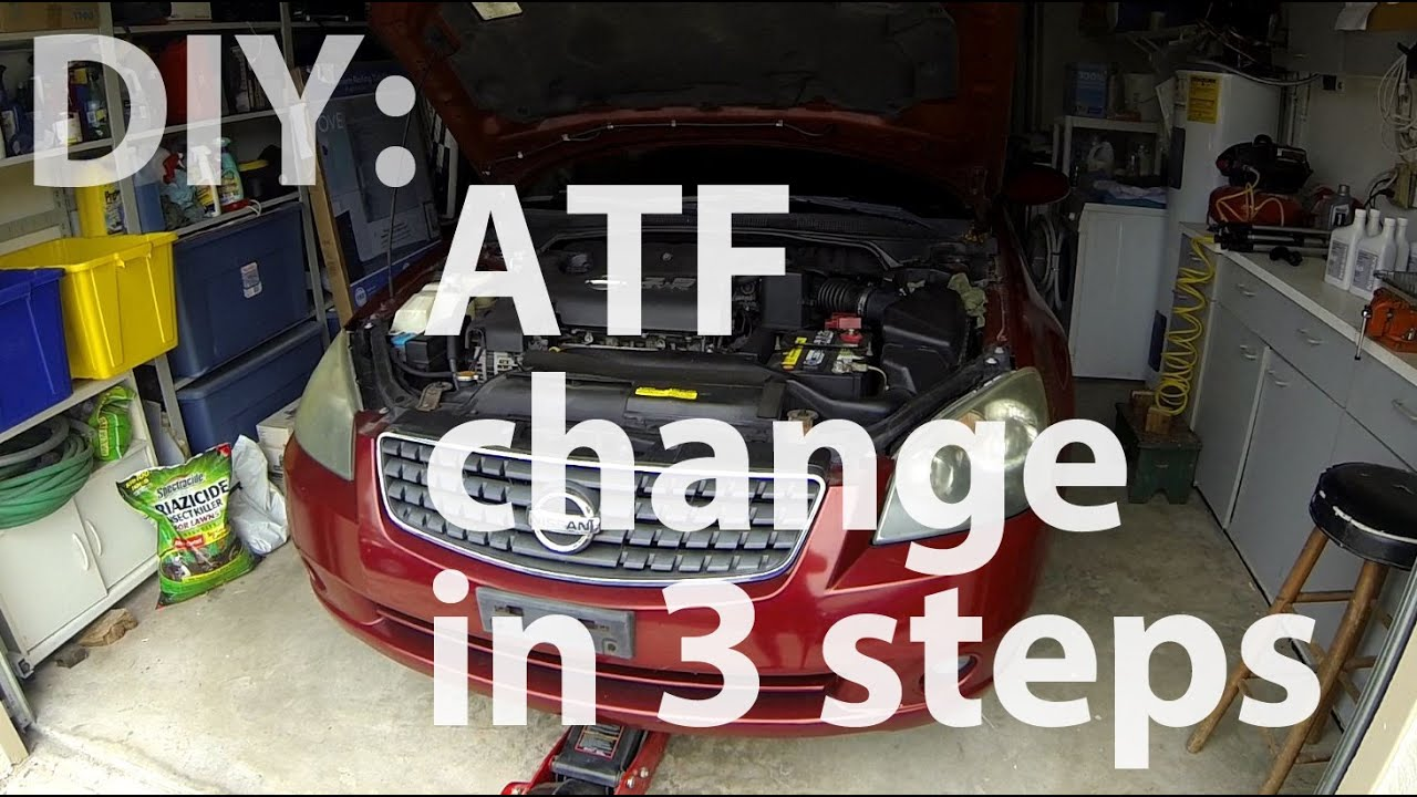 Diy Nissan Altima Atf Change In 3 Steps Youtube