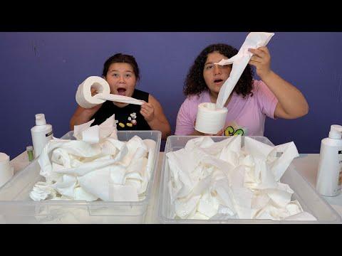 DIY TOILET PAPER SLIME - NO GLUE SLIME