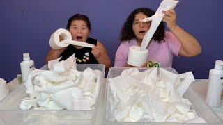 DIY TOILET PAPER SLIME - NO GLUE SLIME