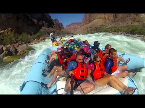 Lava Falls Rapid - 38 foot drop! - Grand Canyon - Wilderness River Adventures (Slow Motion)