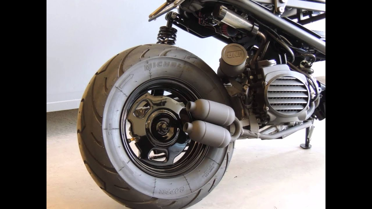 honda ruckus dual muffler exhaust system