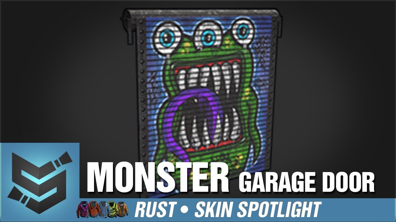 Rust Skin Spotlight Monster Garage Door Youtube