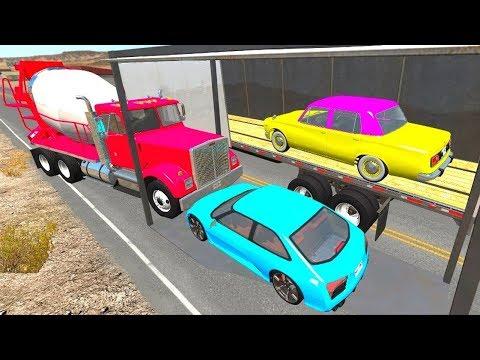 Видео: Мультики про машинки - Аварийные мосты! Мультик игра новые серии где много машинок.
