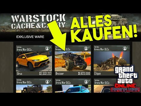 wir kaufen alles arena kaufen 25 neue autos mehr arena war dlc gta 5 online. Black Bedroom Furniture Sets. Home Design Ideas