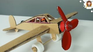 How to Make a Plane With DC Motor - Cardboard Plane