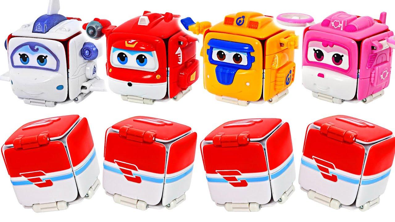 슈퍼윙스 네모 택배박스 변신 로봇! 날아라! | 두두팝토이