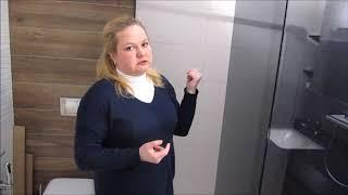 видео перегородка для душевой