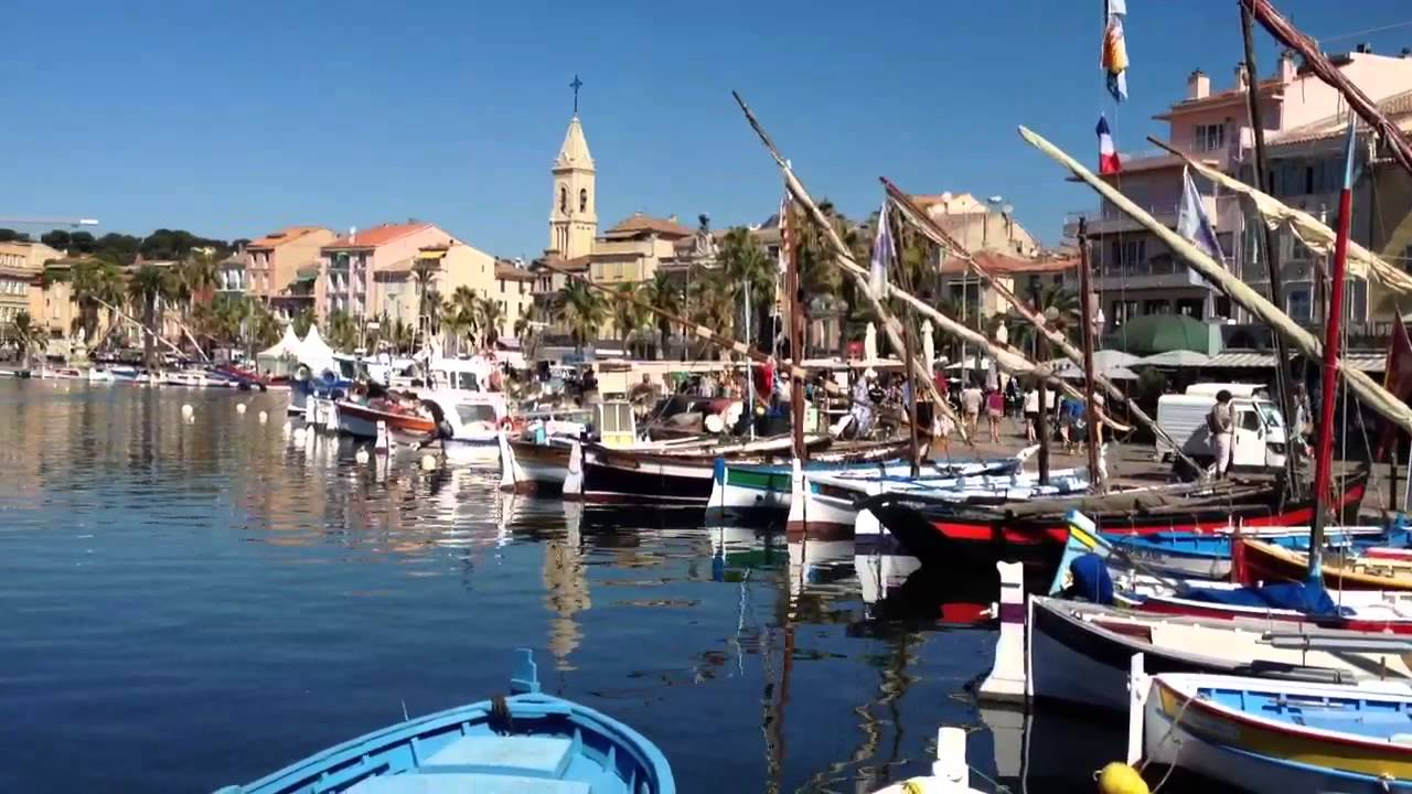gorgeous harbour of sanary sur mer france youtube. Black Bedroom Furniture Sets. Home Design Ideas
