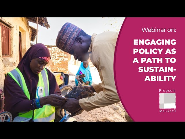 Webinar: Engaging Policy as a Path to Sustainability