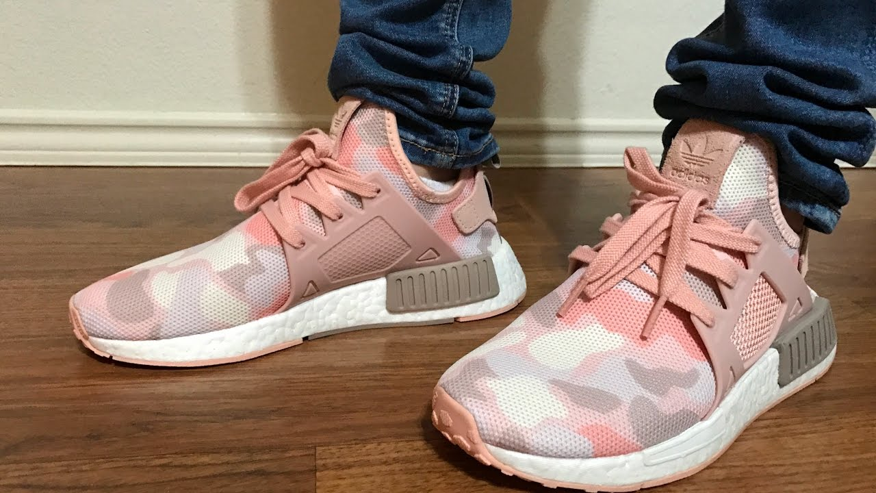 size 40 48525 a333e Wife's NMD XR1 Pink Camo unboxing and on feet review