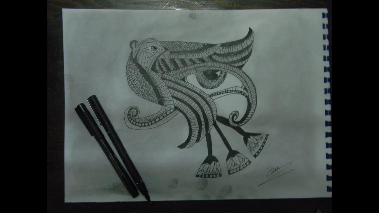 drawing illusion eye horus youtube