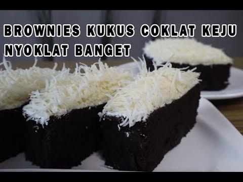 Brownies kukus coklat keju nyoklat banget