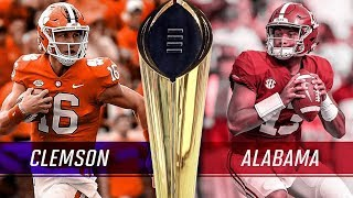 ALABAMA VS CLEMSON NATIONAL CHAMPIONSHIP PREVIEW 2018 2019