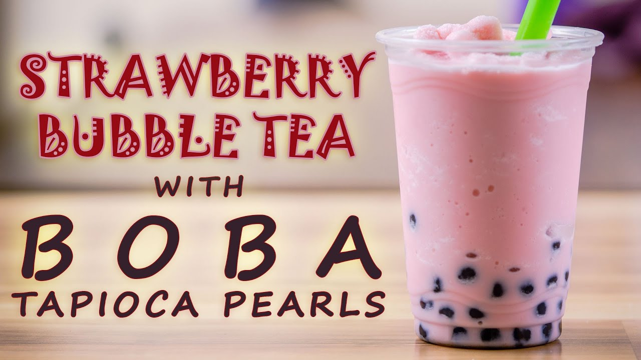 How to Make a Strawberry Bubble Tea with Bubble Tea Supply ...