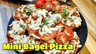 Mini Bagel Pizza - Easy Summer Holiday Kids Recipe | Cook With Anisa