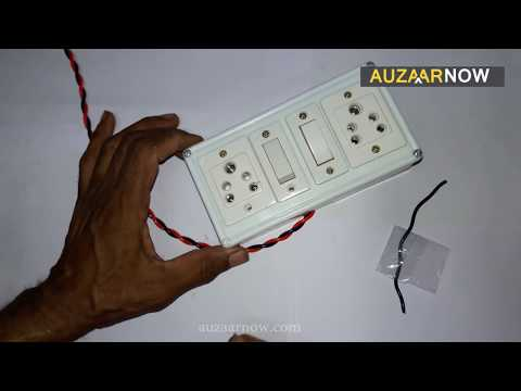 electric board wiring connection | how to make an electric extension board  - youtube