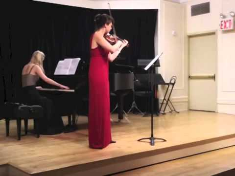 "Violin and Piano sonata No. 2 ""September 11th"" Masha Lankovsky, Violin Katya Mihailova, Piano"