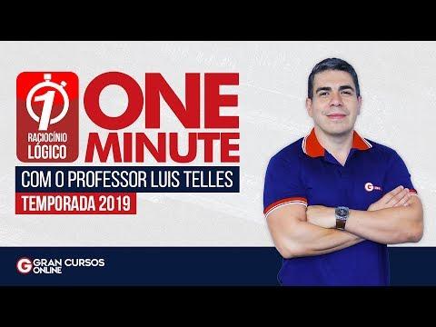 One Minute – Raciocínio Lógico Especial 2020: Prof. Luis Telles