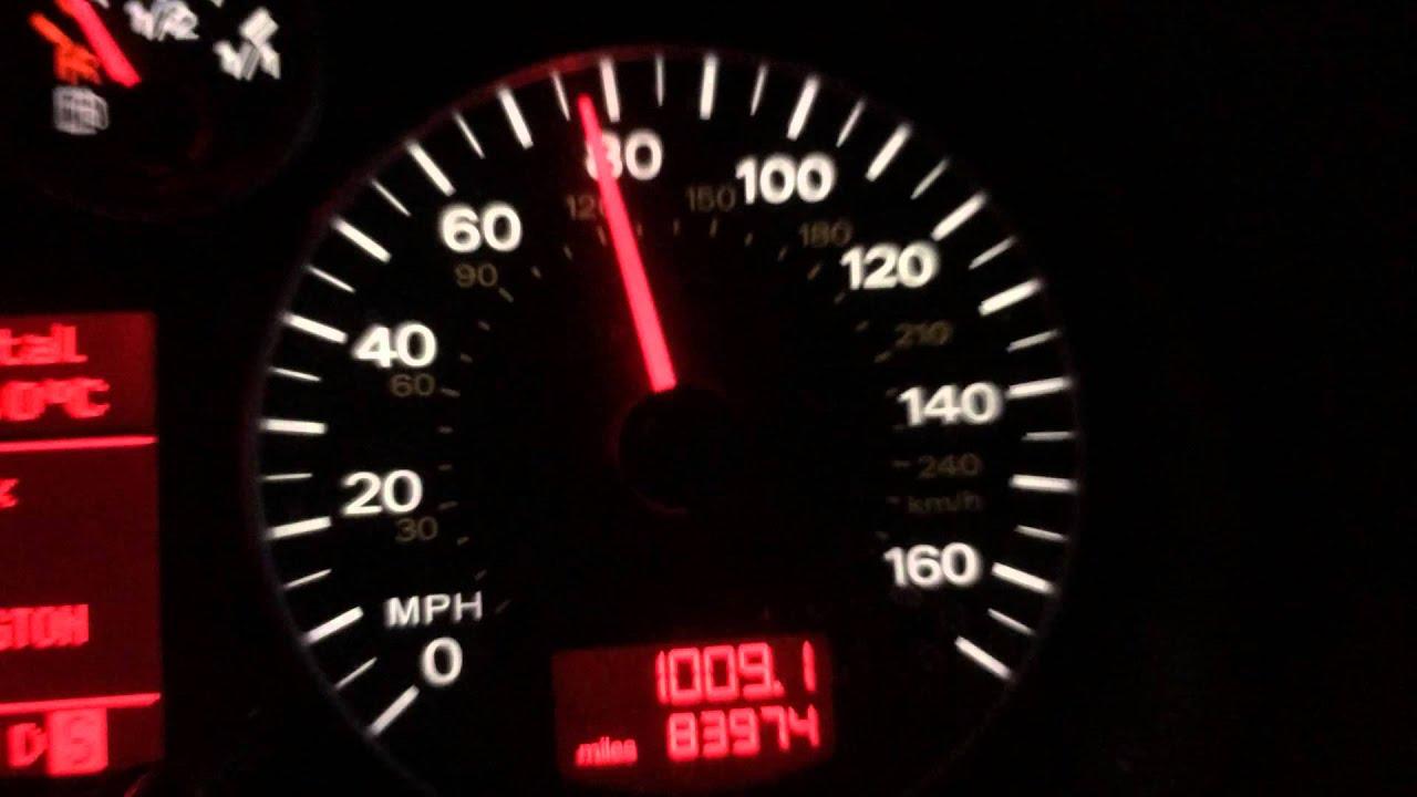 Audi A3 3 2 Quattro launch control 0 60 in under 5 secs time it