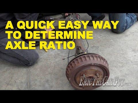 A Quick Easy Way To Determine Axle Ratio -EricTheCarGuy