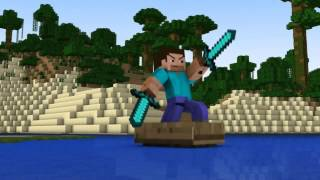 "♪ ""Diamond Sword"" Minecraft Animation (Music Video) Minecraft Song"