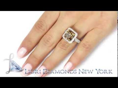 Chocolate brown wedding rings