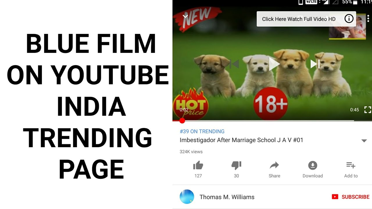 Blue Film On YouTube India Trending Page