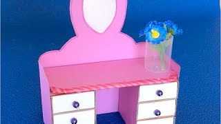 DIY: Мебель из картона ✿ Как сделать туалетный столик из картона своими руками ✿