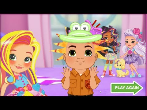 Hair Colors dressing stylist learning cartoon nails polishing learn colors with lots of fun pictures