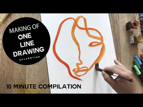 SALVENTIUS 8 minutes of continuous one line drawings