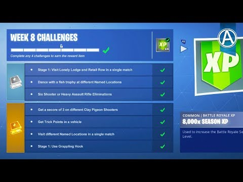 Fortnite WEEK 8 CHALLENGES GUIDE! (Fortnite Battle Royale)