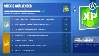 Fortnite WEEK 8 CHALLENGES GUIDE! // Pro Console Player // 1350+ Wins (Fortnite Battle Royale LIVE)