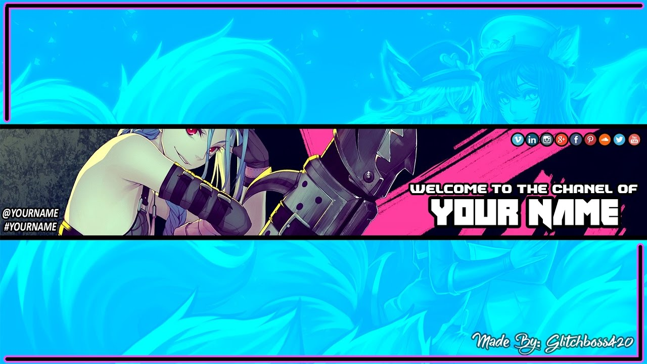 Photoshop Free Hd Anime Youtube Banner Template Psd Direct